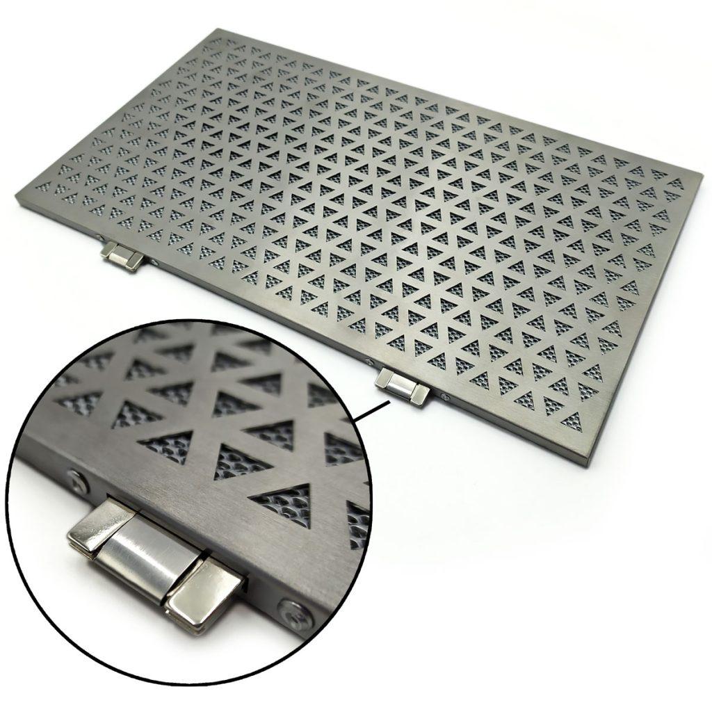 Filtro estetico in acciaio inox (vari pattern)