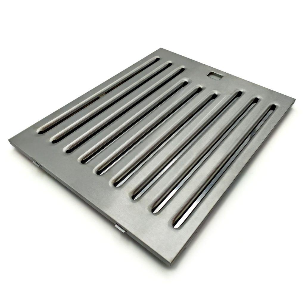 Filtro baffle a labirinto in acciaio inox AISI 304 o 430. Spessore 9 mm