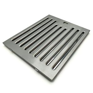 Baffle filter in 9mm thick AISI 304 or 430 stainless steel