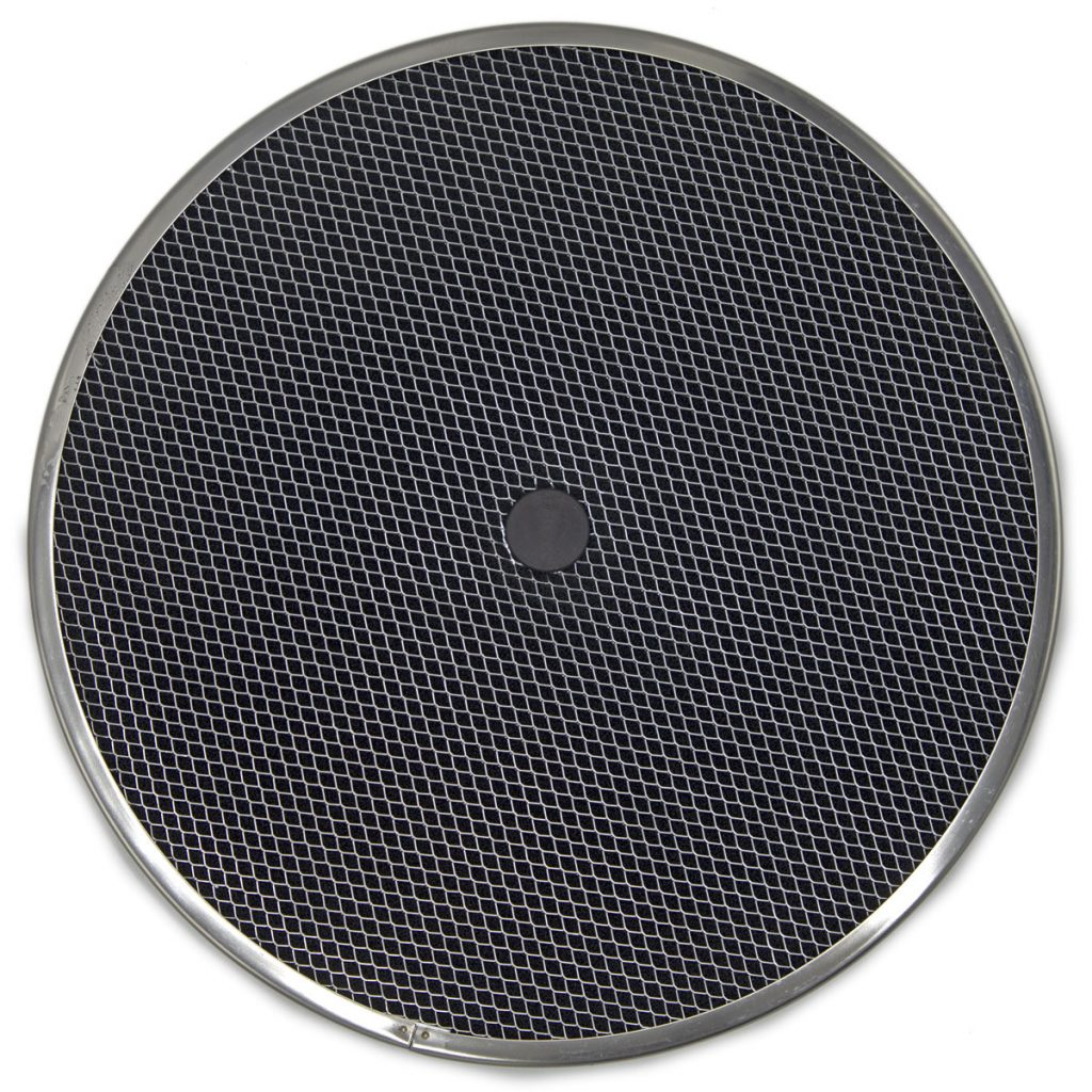 Charcoal filter with steel frame