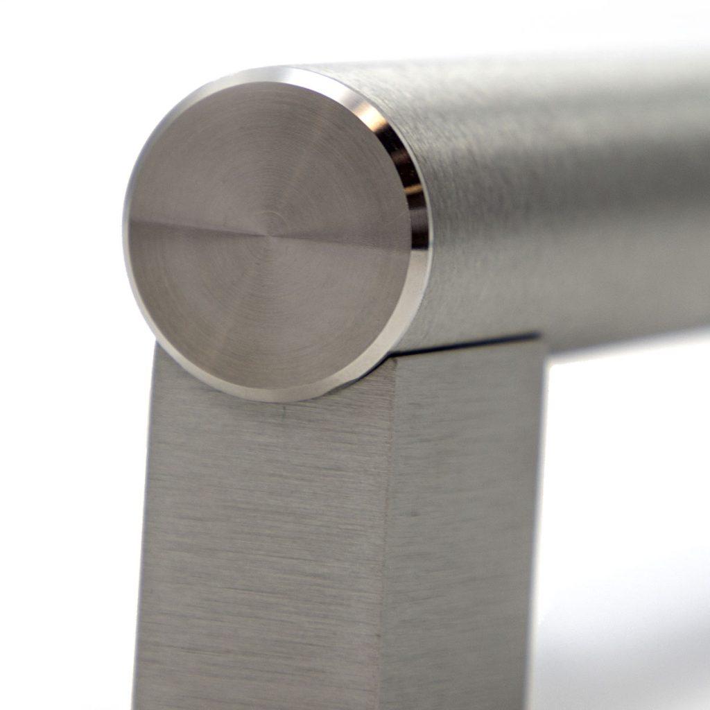 Maniglia forno alluminio satinato finitura milleluci