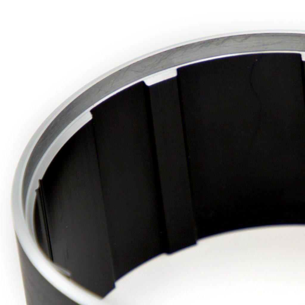 Profilo in alluminio macchine da caffè doppia finitura nero satinato/alluminio lucido